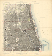 Chicago, topographic maps, 1928 1929, index