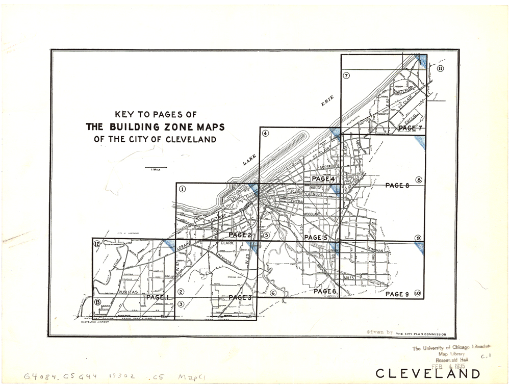 Cleveland building zone maps index