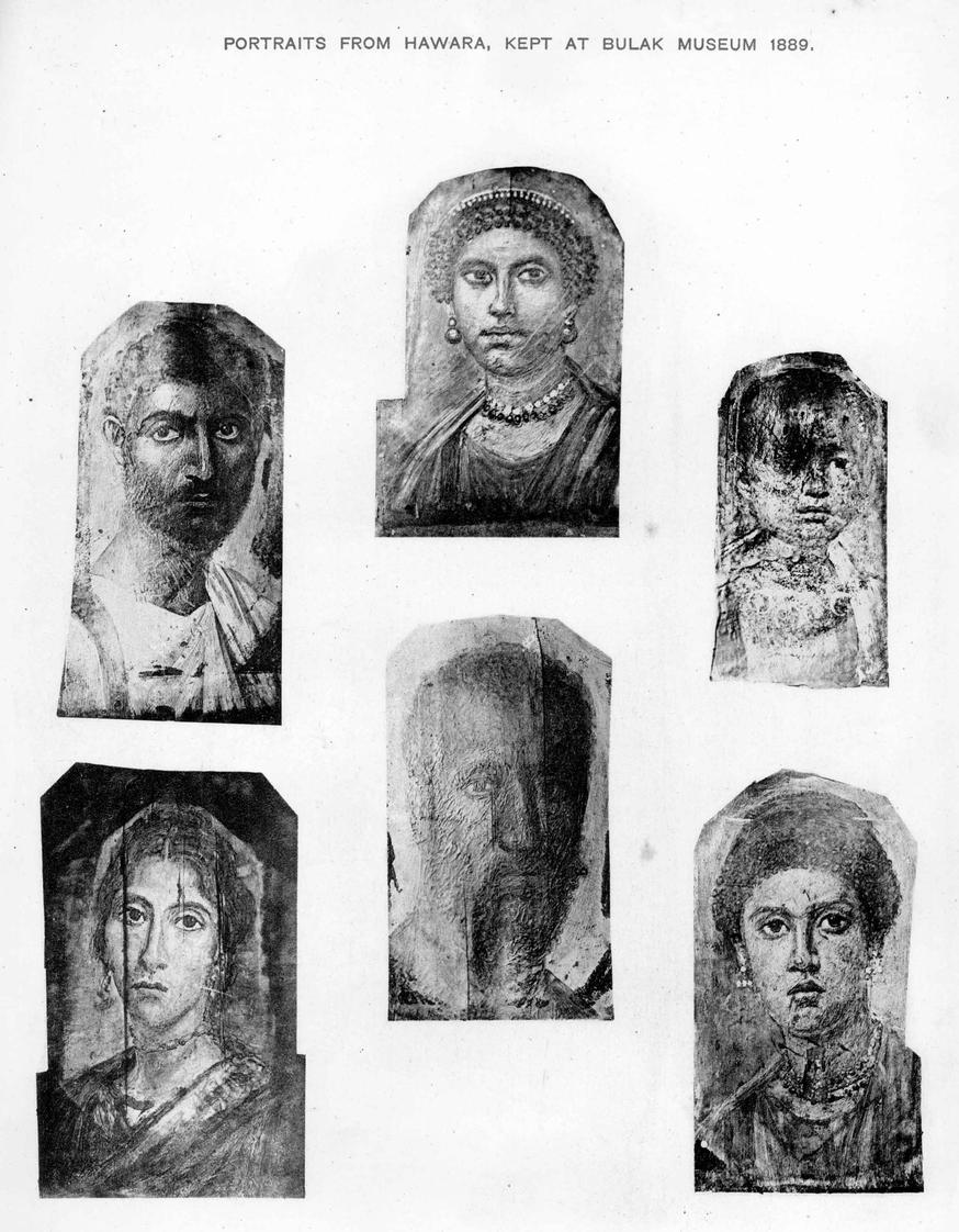 Portraits From Hawara (1889) ..... A Plate From Kahun - Gurob - Hawara by W. M. Flinders Petrie (University of Chicago Electronic Open Stacks)