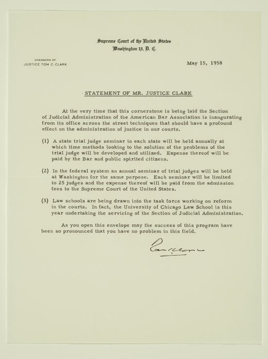 Typed letter on Supreme Court of the United States letterhead.