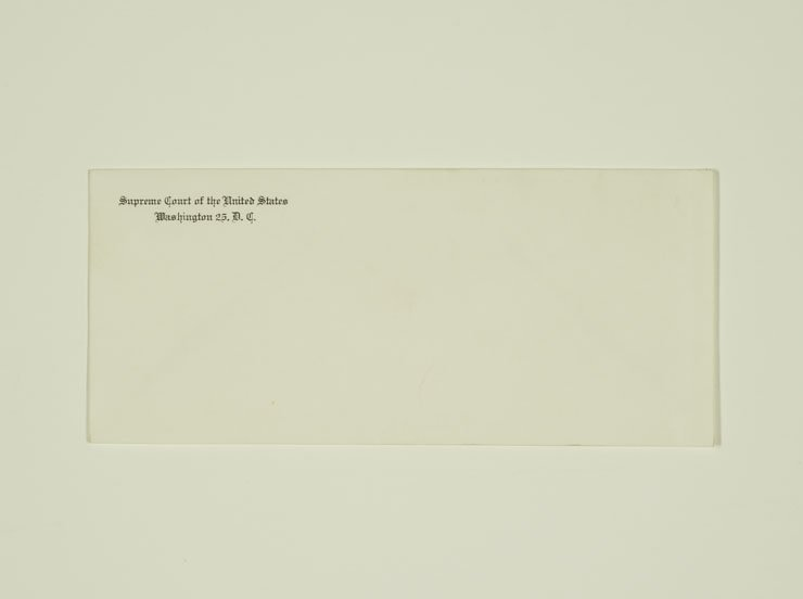 Envelope from the Supreme Court of the United States