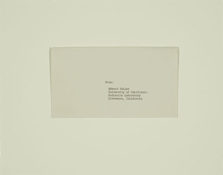 Envelope with typed address