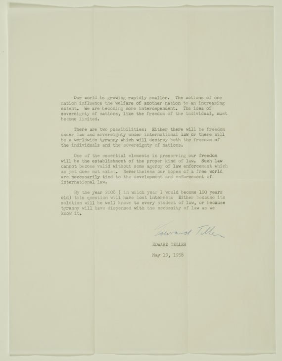 Typed letter from May 19, 1958