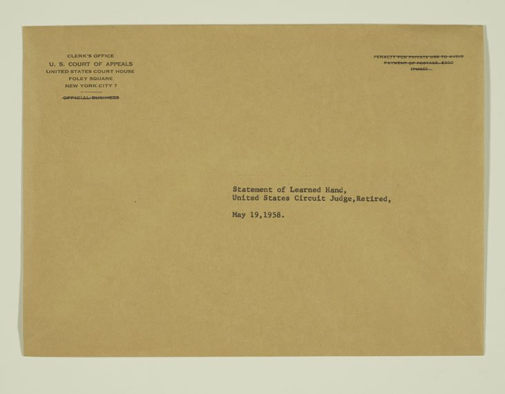 Brown envelope from the Clerk's Office of the U.S. Court of Appeals