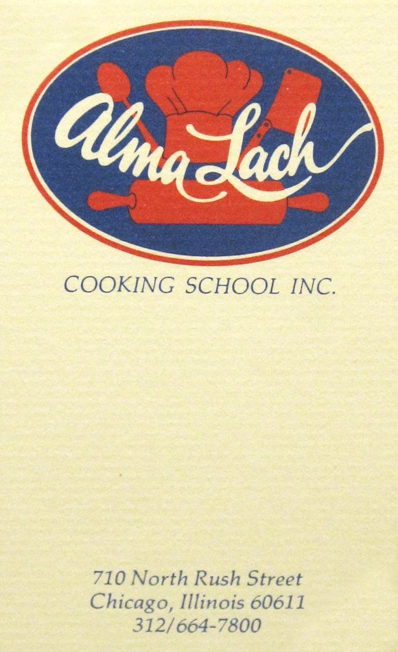 Businesswoman alma lachs kitchen the university of chicago library alma lach cooking school business card undated colourmoves Choice Image