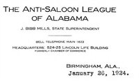 Letterhead of the  Anti-Saloon League