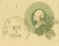 Postage stamp from correspondence.