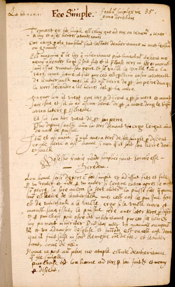 Handwritten legal text
