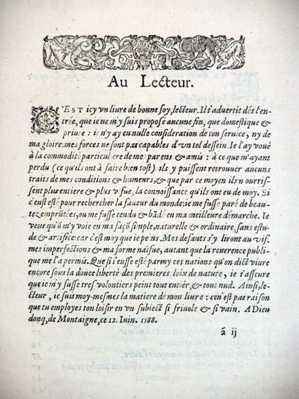 "First page of ""Au Lectuer"""
