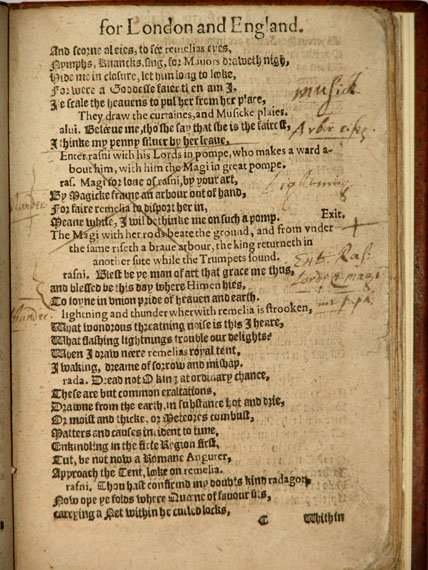 Page from A Looking glasse with annotations