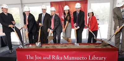 Ceremonial breaking of ground for Mansueto Library