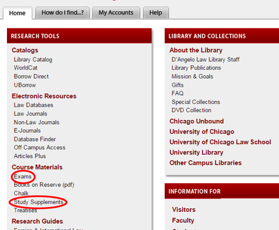 Screenshot of D'Angelo Law Library Website