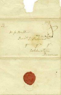 Seal on Love letter from Duckworth to Susan Buller, his second wife, January 21, 1808