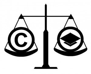 Fair Use icon: A scale showing a copyright symbol and mortarboard in balance