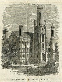 Drawing from document on the naming of Douglas Hall.