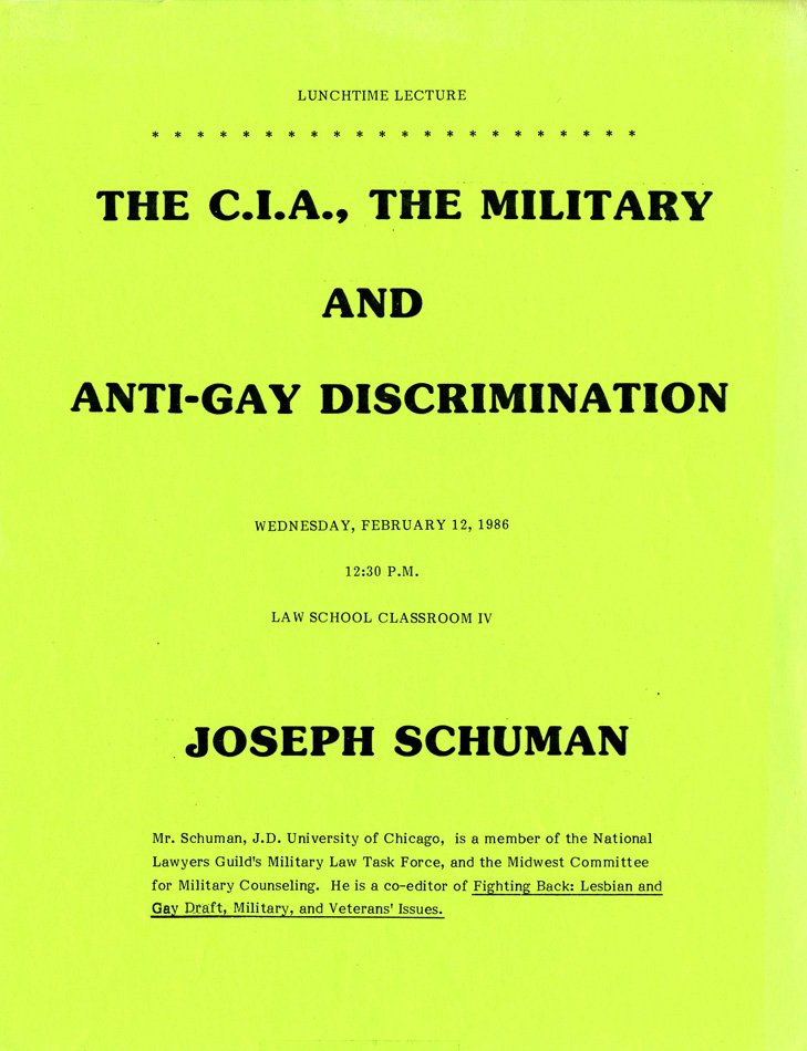 The C.I.A., the Military and Anti-Gay Discrimination