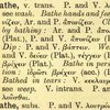 "Greek terms for ""bathe"""