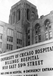 Building exterior and signage for Billings Hospital