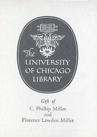 C. Philip Miller and Florence Lowden Miller Bookplate