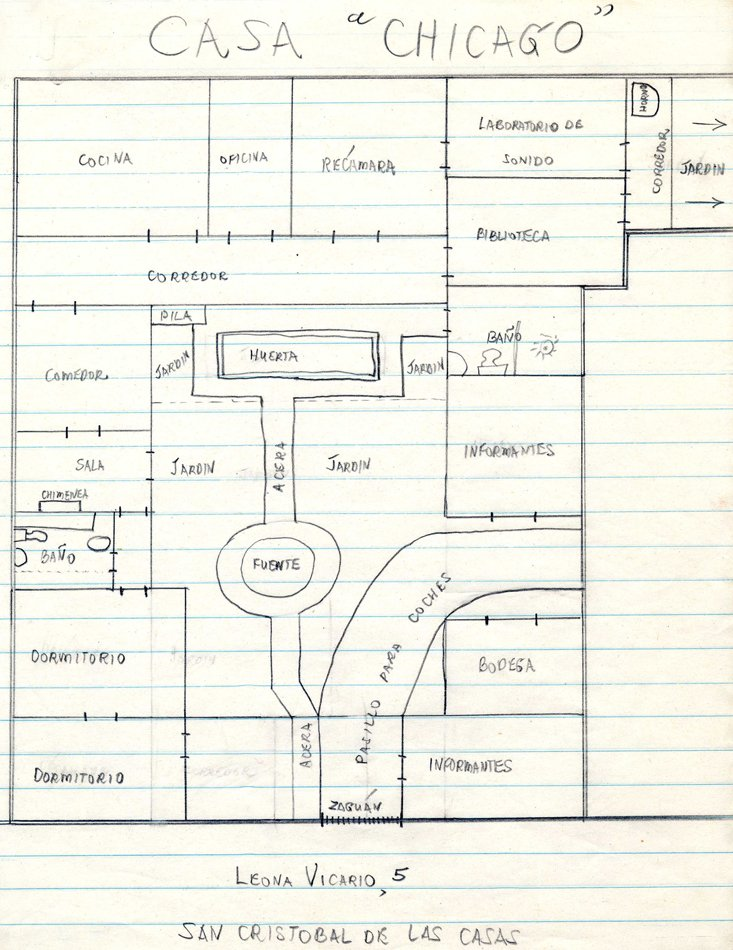 Simple floorplan drawn in pencil on lined paper.