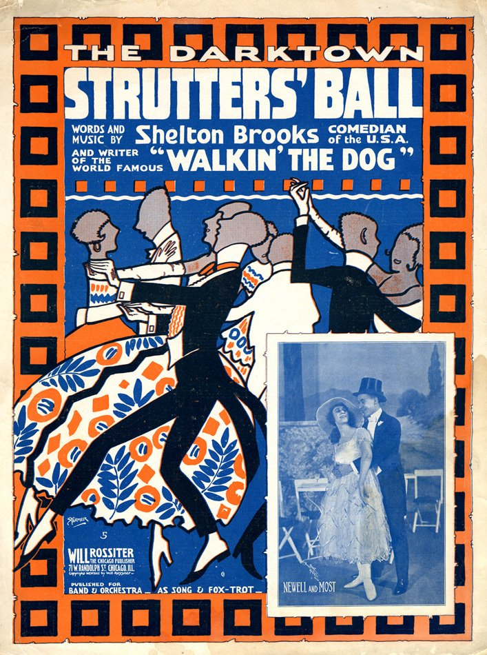 "Music score cover for ""Walkin' the Dog"""