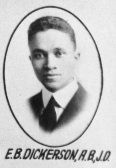 Earl B. Dickerson yearbook photo
