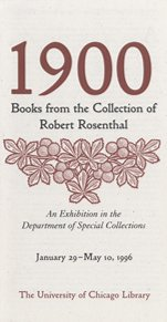 1900 Rosenthal Exhibit Catalog