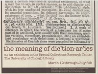 Meaning of Dictionaries Exhibit