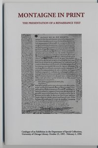 Montaigne in Print Exhibit