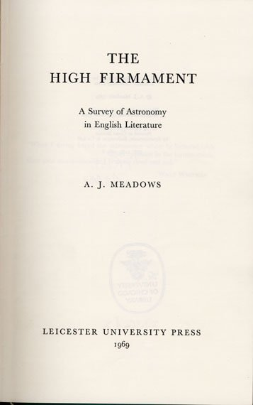 firmament title page