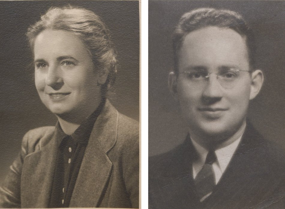 Passport Photos of Donald F. Lach and Alma S. Lach 1950s