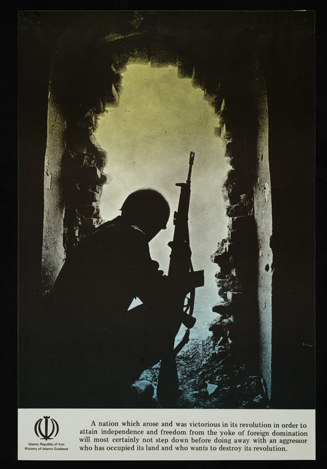 Soldier Sitting in Bombed Building