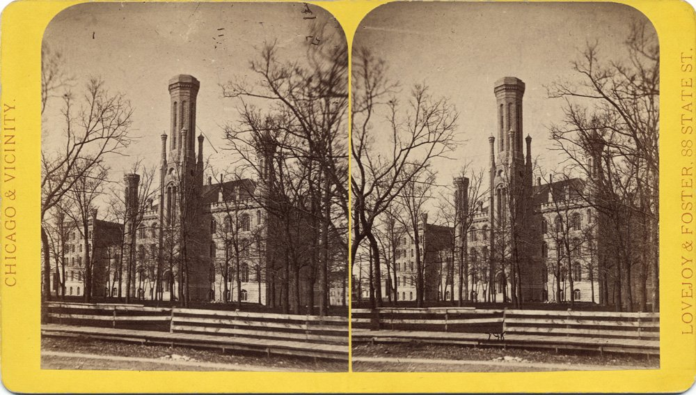 Old University of Chicago circa 1859
