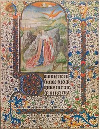 David in Prayer from a French Book of Hours