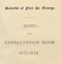 Records of Fort St. George